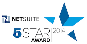 NetSuite 5 Star Award 2014