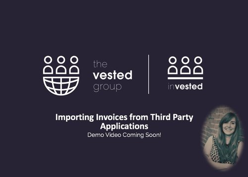 Importing Invoices from Third Party Applications